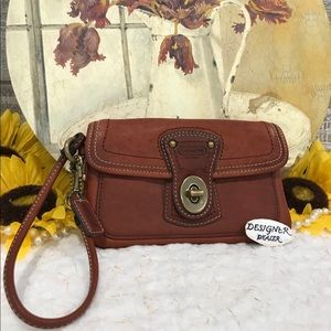 Auth COACH Legacy LTD Ed Wristlet British Tan GUC!